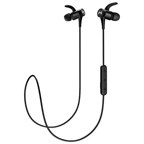 Mpow S8 Bluetooth Earbuds IPX7 Waterproof & 10 Hours Playtime, Wireless Headphones Magnetic, Wireless Earbuds w/CVC6.0 Noise Cancelling Mic, Sport Bluetooth Earphones for Running, Workout, Black