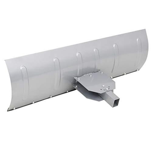 yorten Universal Schneepflug 150 x 44 cm zur ATV-Montage Silber Winkel in 5 Positionen Einstellbar für Rasentraktor Schneepflug Schneeschieber