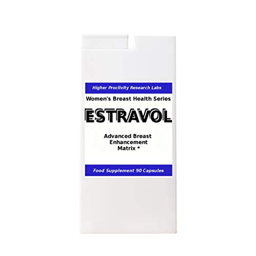 Estravol - Breast Enlargement Pills, 100% Refund Guarantee (Please Measure Before 2 menstruations), 90 Capsules