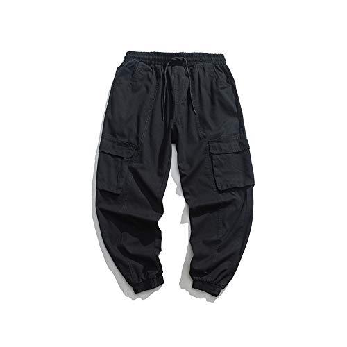 N/ A Pantalon Cargo décontracté pour Hommes Pantalon de Jogging Chino Coupe Slim Pantalon d'extérieur Taille élastique Bas Ajuster la Largeur Pantalon