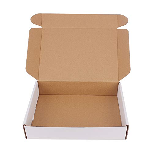 35 Pack 9x6.5x1.75 inch Corrugated Box Mailers- White Cardboard Shipping Box Corrugated Box Mailer Shipping Box for Mailer, Moving and Craft by ZMYBCPACK