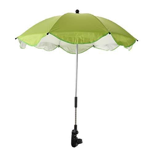 IPOTCH Wasserdicht Sonnenschirm Strandschirm Winddicht Schirm mit Universal klemme, viele Farbe Auswahl - Grün, 68 x 65 cm