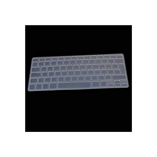 Silicone Soft Color Azerty Keyboard Clavier Cover Skin Compatible for Mac Book Pro Macbook Air 13' 15' 17' Air 13 Inch French Uk/Eu,transparent