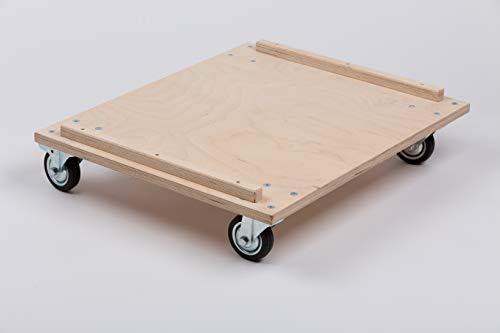 B.A.M. Montage Transportwagen für Plyo Box, Sprungbox für Sprungkrafttraining, Jump Box, Sprungkasten aus Multiplex-Holz