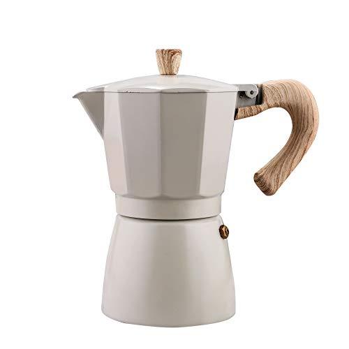 Cafetera Italiana Espresso, Percolador de café espresso clásico (3-9 tazas),9 Cup Classic Independiente Máquina - Cafetera (Independiente, Máquina espresso, De café molido, Aluminio),Blanco,30