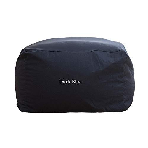Zjcpow Sillas sofá Ultra Suave Bolsas de Bolitas Sillas for niños, los niños Adolescentes y Adultos Disponibles en una Variedad de Colores (Color : Dark Blue, Size : 65x65x43cm)