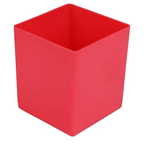 Sortierkasten 63 mm hoch, rot, LxB = 54x54 mm, aus PS, Sparpack = 50 St.