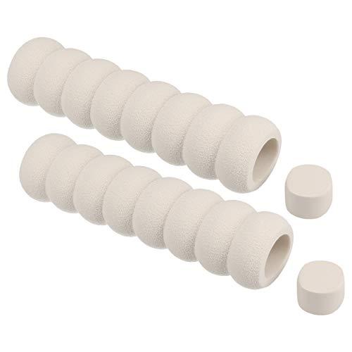 mumbi Türklinken Schutz Kindersicherung für Tür-und Fenstergriffe 2er Set, Fester Schaumstoff, weiß, 13.5cm