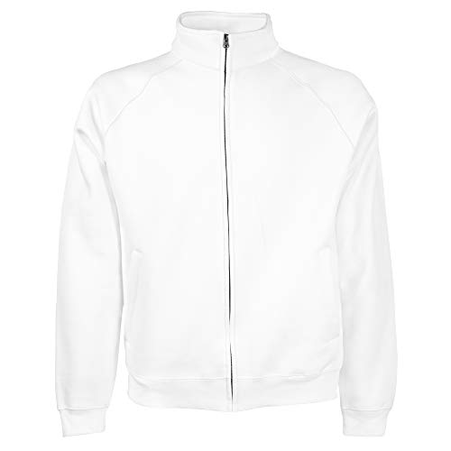 Fruit of the Loom - Sweatshirt à Fermeture zippée - Homme (2XL) (Blanc)