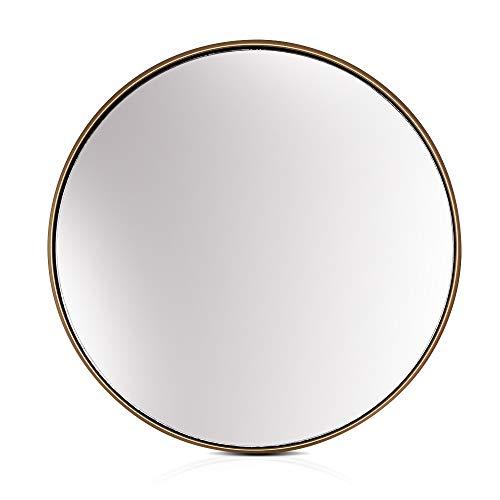 Elegance by Casa Chic - Specchio da Parete Grande in Metallo - Diametro 58,5cm - Metallo Placcato - Oro