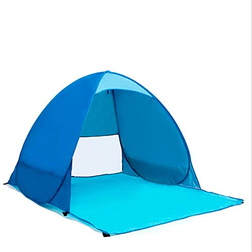 YXDEW Camping tent Blue Portable Pop Up Sunshade Beach Tent Sun Shelter Automatic Instant Family UV Protection 1-2 Person Canopy Tent For Camping Fishing Hiking camping
