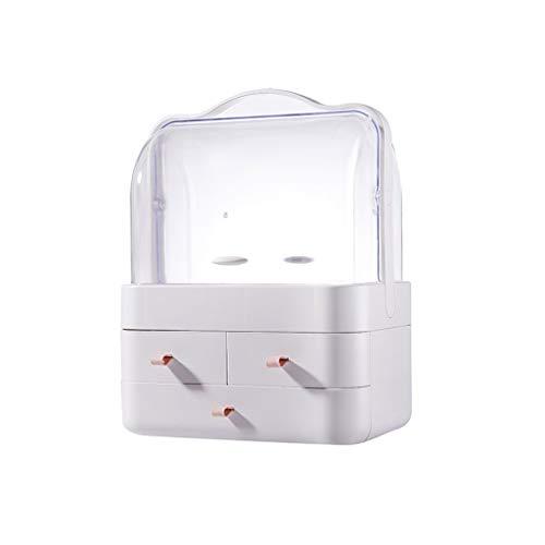 HSF Cuidado de la Piel Cosméticos Caja de Almacenamiento de Tocador Plataforma a Prueba de Polvo del cajón del Escritorio de acrílico Caja cosmética (Size : B-m)
