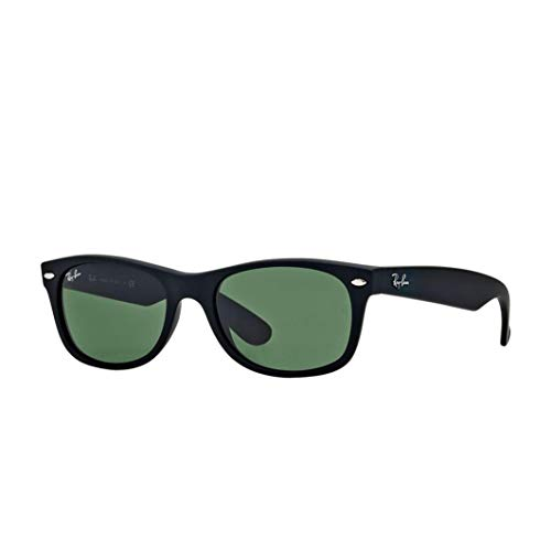 Ray-Ban Black Rubber Green Klassische G-15 55mm RB2132 622 55 New Wayfarer-Sonnenbrille