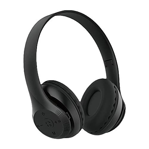 Auriculares inalámbricos plegables Auriculares estéreo Auriculares deportivos Negro