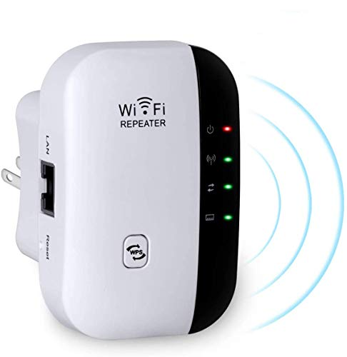 R-e-p-e-t-i-d-o-r WiFi, 300Mbps Extensor WiFi, Amplificador de Señal de 300 Mbps,Admite Redes WLAN de 2,4 GHz,Fácil de Configurar, Compatible con Enrutador y Fibra