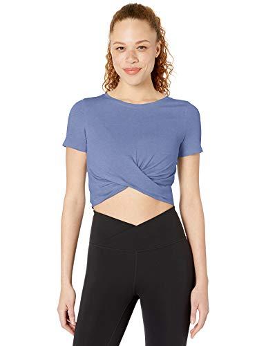 Maglia maglietta zip aperta aderente Taglio T-shirt Ribbed Knit Cut Out Crop Top