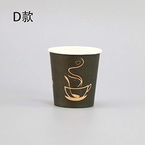 500 Stück Netto rot 160ml kleine Pappbecher Einwegkaffeetasse Verdickung kreative Bunte weiße Milch Tee Saft Wasser Wein Trinken Tasse Cup_500pcs_160ml