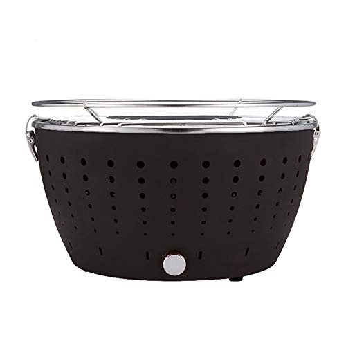 PPLAW Tragbarer Grill-Tischplatte Grill Rauchloser Holzkohlegrill Barbecue Brazier für 3-5people Indoor & Outdoor Grill BBQ (Color : Black)
