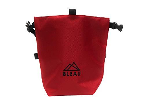 Bleau Rock Climbing Chalk Bag for Climbing, Bouldering, Gymnastics, and Weight Lifting   Chalk Bucket   Chalk Pot (Red)