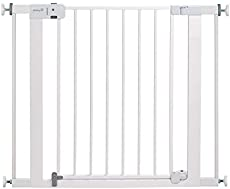 Safety 1st Easy Install Auto-Close Baby Gate with Pressure Mount Fastening, White