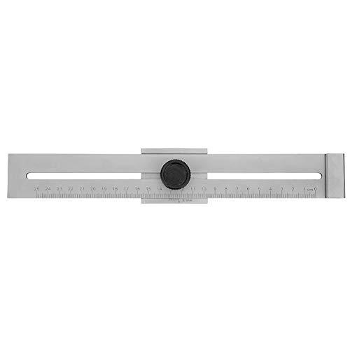 Regla de marcado de carpintería, herramienta de calibre de marcado de alta precisión, regla de marcado de precisión de regla T pequeña de precisión cuadrada de pájaro carpintero