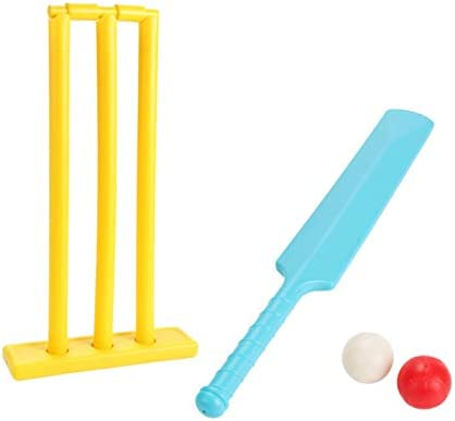 isilky Cricket Set for Children Cricket Bat and Ball Beach Wicket Stand 1 Bat 2 Balls and 1 product image