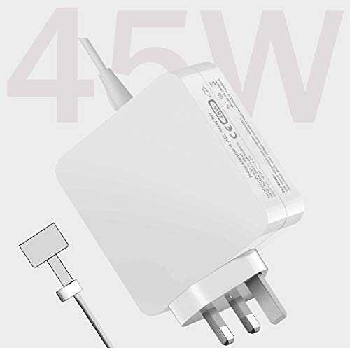 Mac Book Pro Charger, 45W T-Tip Power Adapter Mac Book Pro AC Connector Compatible with Mac Book Air 2012-2018 Version, for Mac Book Air 11 inch and 13 inch After Mid 2012, Mac Book Air charger