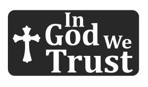 3pcs in God We Trust Hard Hat/Helmet Stickers