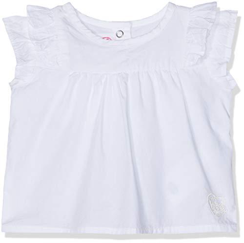 chicco Bluzka dla dziewczynek Camicia Manica Corta, Biały (Bianco 033), 56 cm
