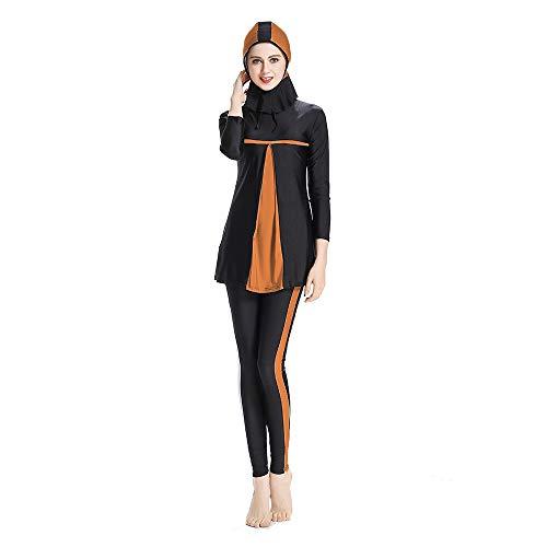 safetogether Muslimische Badebekleidung für Frauen und Mädchen, bescheidene islamische Badeanzüge, Strandmode, Hijab Burkini, muslimische Badeanzüge Gr. M, Orange