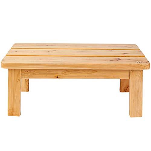 SCDDZ Duschbank Hocker mit Regal - Bamboo Spa Bathroom Decor - Sitzbank aus Holz for den Innen- oder Außenbereich