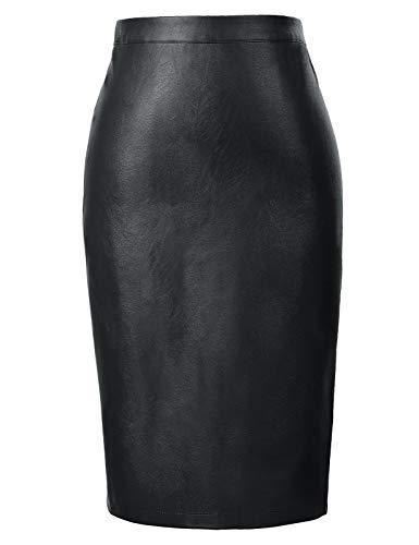 Kate Kasin High Waist Pencil Skirt Wear to Work Knee Length Black Skirt Small KK601-1