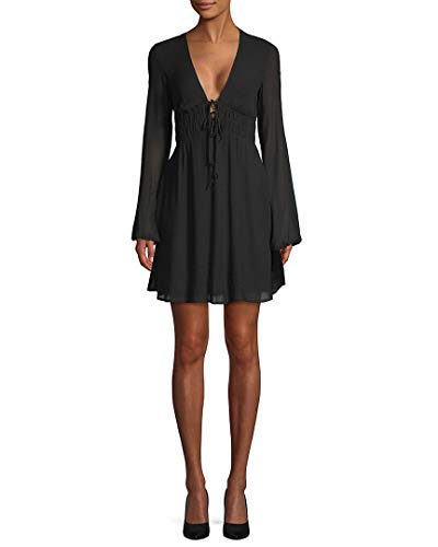 Bailey 44 Women's Film Festival V Neck Dress, Black, XS