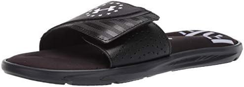 Under Armour Men s Ignite Freedom Slide Sandal Black 001 White 10 M US product image