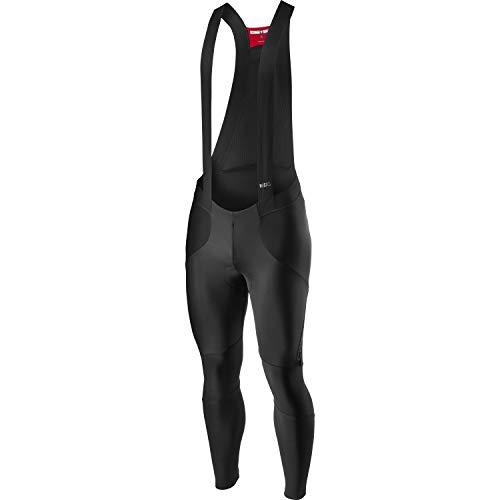 CASTELLI Sorpasso Ros Bibtight - Pantalones Cortos de Ciclismo para Hombre, Color Negro, Talla S