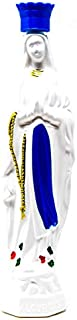 Large Virgin Mary Plastic Statue Bottle Containing Lourdes Holy Water 20 cm White.