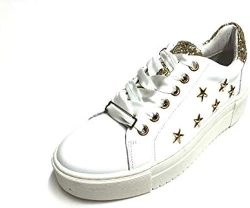 Lucky shoes Damen Glitzer Plateau Party Sneaker Turn Schuhe