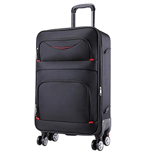 LRHD Light Portable Dirt-resistant Luggage, Oxford Cloth Waterproof Luggage With 4-wheel Alloy Pull Rod, 20-28 Inch Carry-on Luggage, Suitable for Travel, Business, Black