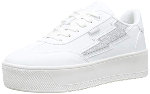 MTNG Attitude Damen 69586 Sneakers, Weiß (Texis Blanco/Brillo Plata C45016), 38 EU