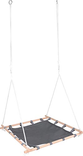 Small Foot 11907 Altalena a rete con telaio in legno per un divertimento particolare, portata...