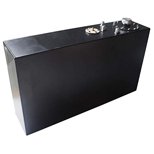 labwork 17 Gallon 65L Race Drift Fuel Cell Gas Tank with Level Sender Top-Feed Slim Aluminum Black