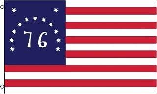 AZ FLAG United States Bennington 76 Flag 3' x 5' - American Revolution Battle of Bennington Flags 90 x 150 cm - Banner 3x5 ft
