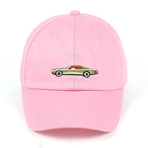 YIERJIU Gorra Gorras Beisbol Sombrero de papá Gorras de béisbol de algodón sólido Mujeres Hombres Bordado de Coche Gorra de Pareja Rosa Negro Gorro de Camionero Ajustable al por Mayor,Rosa