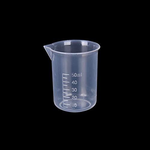 Vaso medidor 20ml / 30ml / 50ml / 300ml / 500ml / 1000ml de plástico transparente Graduado Taza de medición for Hornear Vaso de medida líquida JugCup de contenedores (Color : 50ML)