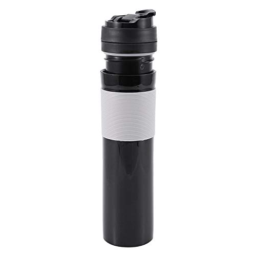 OVBBESS 350 ml portátil francés prensado botella de café cafetera té café filtro botella mano presión máquina de café para oficina de coche