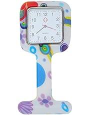 Hemobllo Siliconen Verpleegster Horloge- Quartz Opknoping Zakhorloge Opknoping Horloge Draagbare Medische Verpleegster Horloge Vierkante Zakhorloge Voor Vrouwen Dames (Willekeurige Kleur