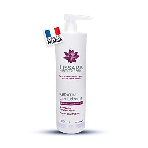 Champu sin sulfatos - con Keratina - Tratamiento post Keratina - Made in France - 1000ml