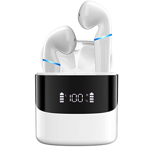 AMZLIFE Bluetooth Kopfhörer in Ear Kabellose Kopfhoerer True Wireless Bloototh 5.0 Earbuds für iPhone Huawei Samsung Android Work Travel Gym