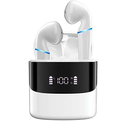 Bluetooth Kopfhörer in Ear Kabellose Kopfhoerer True Wireless Ohrhöre Bloototh Headphones 5.0 Earbuds Earphones für iPhone Huawei Samsung Android Work Travel Gym
