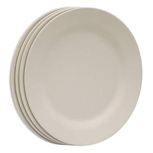 Plato de cena de pasta ligero de 11 pulgadas, irrompible paja de...